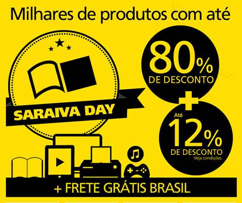 Tá rolando: Até 80% de desconto no Saraiva Day