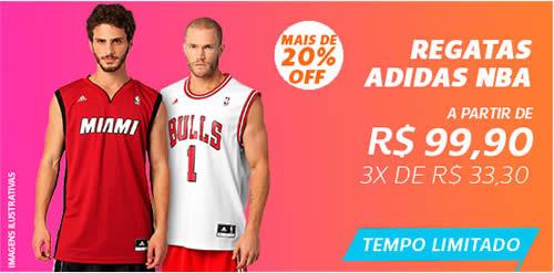 Netshoes: Camisas da NBA com 20% de desconto