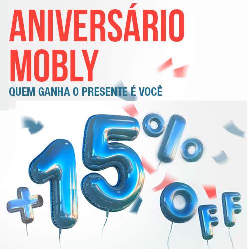 Aniversário Mobly: Cupom de desconto de 15% em todo o site