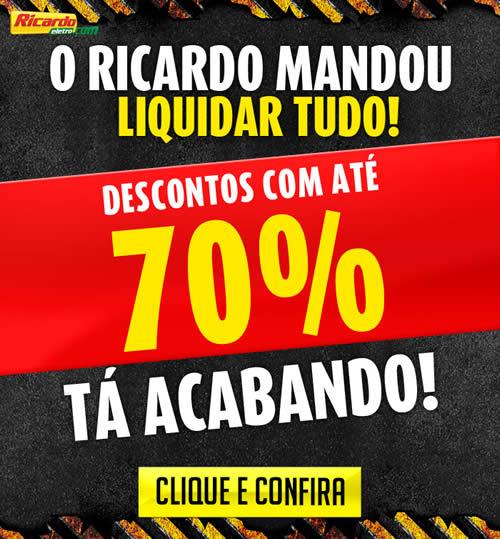 b7f71c6341 Liquidação com até 70% de desconto no Ricardo Eletro
