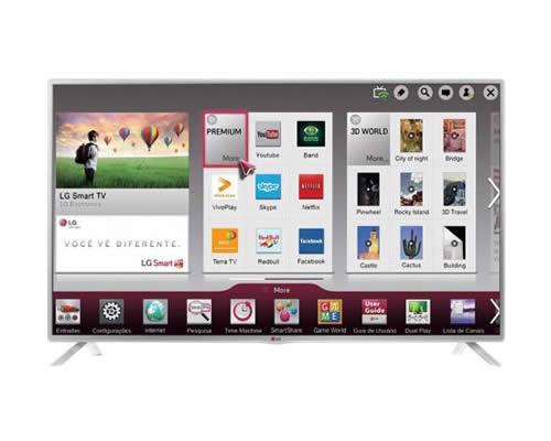 "Smart TV LED 39"" LG LB5800 Full HD 1080p - Conversor Integrado 3 HDMI 3 USB Wi-Fi 120Hz"
