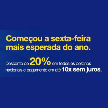 Black Friday Azul com cupom de 20% em destinos nacionais