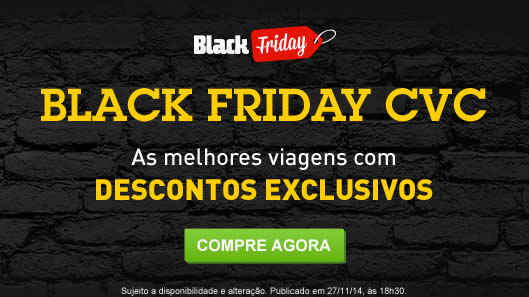 Black Friday CVC com descontos exclusivos