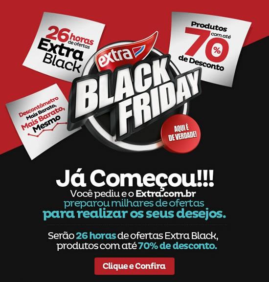 Black Friday Extra com até 70% de desconto