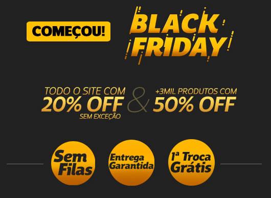 Black Friday Netshoes com 20% em tudo, sem exceção!!!