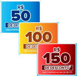 Cupons progressivos de R$50, R$100 e R$150 na Dafiti Sports