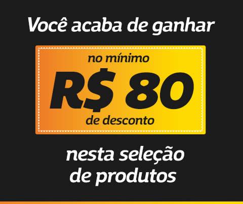 Netshoes: Ofertas com no mínimo R$80 de desconto
