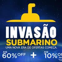 Invasão Submarino: Ofertas com até 60% de desconto