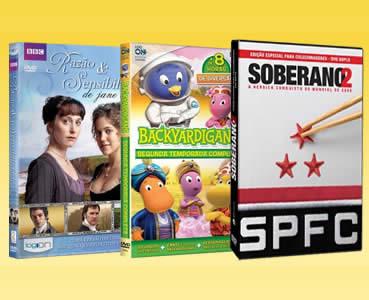 DVD's a partir de R$ 4,90 na Saraiva