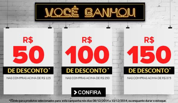 Cupons de R$150, R$100 e R$50 na Dafiti Sports