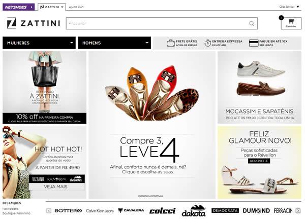 Zattini: Cupom de desconto de 10% na loja de moda da Netshoes