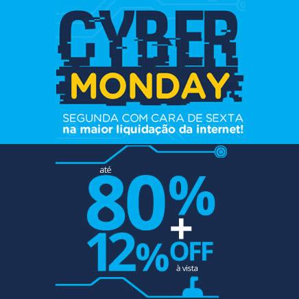 Cyber Monday Submarino com até 80% de desconto + 12% de desconto no boleto