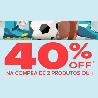 Dafiti Sports: 40% de desconto na compra de 2 ou + produtos