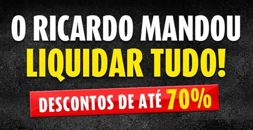 Ricardo Eletro: Liquidação com até 70% de desconto