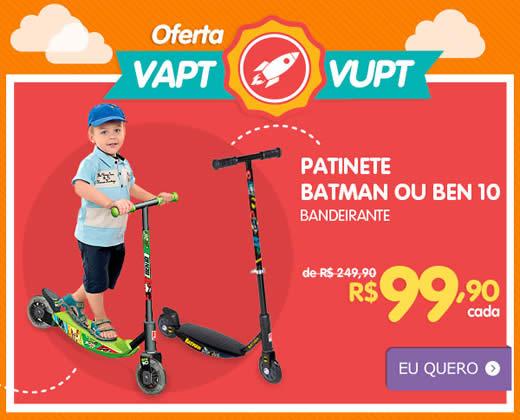 Kangoolu: Patinetes Ben 10 ou Batman por R$ 99,90 cada