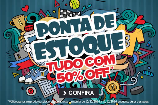 Até 50% de desconto em Ponta de Estoque na Dafiti Sports