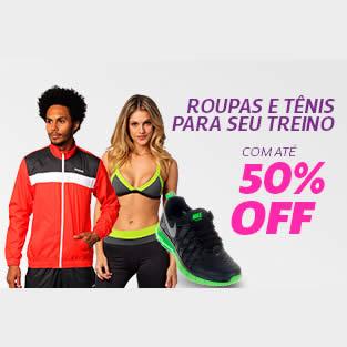 Netshoes: Roupas e tênis para treino com até 50% de desconto