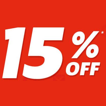 15% de desconto em todo o site Netshoes