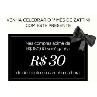 Zattini: Cupom de desconto de R$ 30