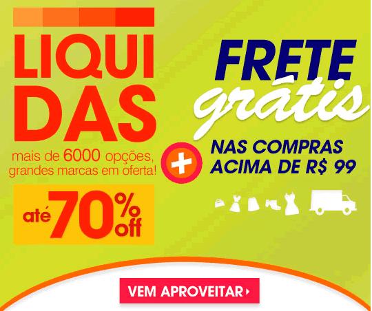 Posthaus: Liquidas com até 70% + frete grátis acima de R$ 99