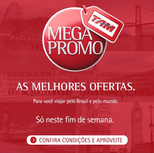 Megapromo TAM: Ofertas de passagens aéreas