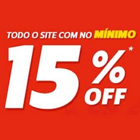 Netshoes: 15% de desconto em praticamente todo o site