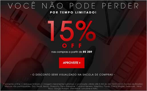 Sephora: Desconto em 15% em seleção de produtos