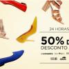 Zattini: 24h de calçados femininos com 50% de desconto