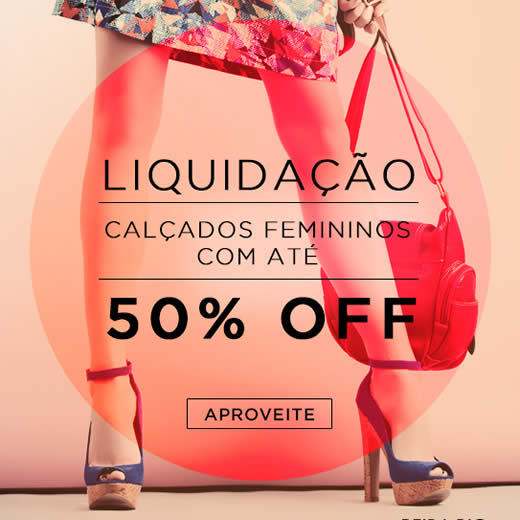 Zattini: Até 50% de desconto em liquidação de calçados femininos