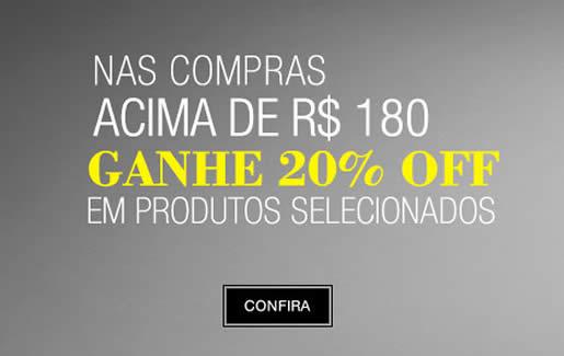 Renner: 20% de desconto nas compras acima de R$ 180