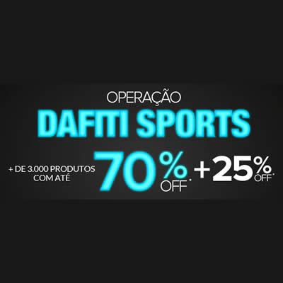 Ofertas com até 70% OFF + cupom de 25% na Dafiti Sports