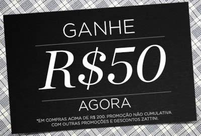 Zattini: Ganhe R$ 50 nas compras acima de R$ 200