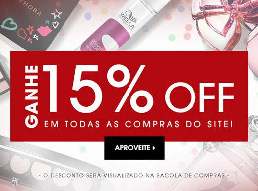 Sephora: 15% de desconto em quase todo o site