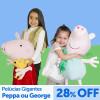 Ri Happy: Pelúcia gigante da Peppa ou George com 28% de desconto