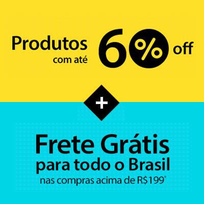 Walmart: Produtos c/até 60% de desconto + frete grátis*