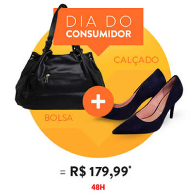 Compre 1 calçado e 1 bolsa por R$ 179,99 na Dafiti