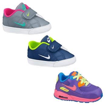 Linha de calçados para bebês na Nike Store