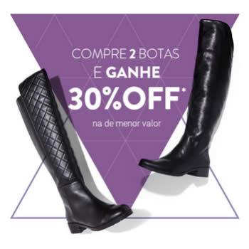 Compre 2 botas e ganhe 30% de desconto na de menor valor na Dafiti