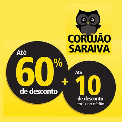 Corujão Saraiva: Até 60% de desconto em todo o site