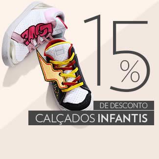 Cupom de desconto de 15% em calçados infantis