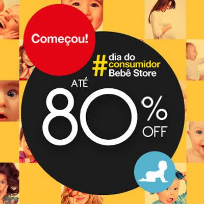 Bebê Store: Até 80% de desconto no Dia do consumidor