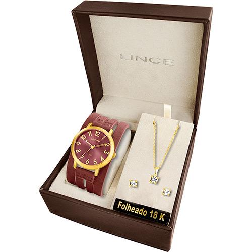 Kit Relógio Lince com colar e brincos por R$ 79 no Shoptime