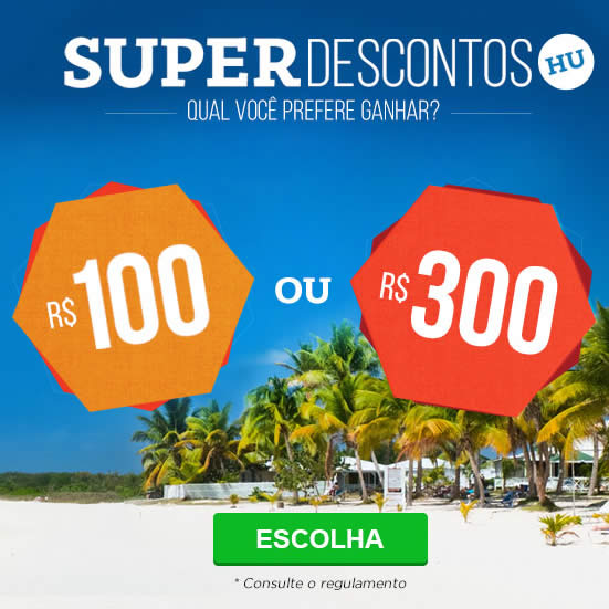 Super Descontos de até R$ 300 no Hotel Urbano