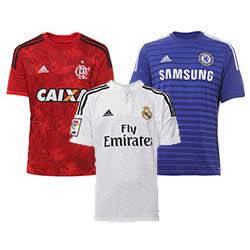 Passarela: Camisas de times nacionais e internacionais