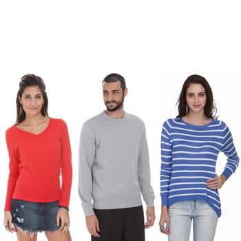 Blusões e suéteres a partir de R$ 35,90 na Renner