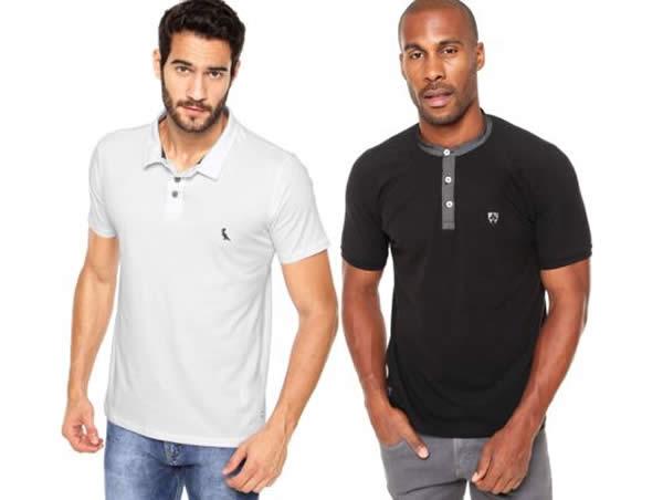 Camisas polos c/até 30% de desconto na Kanui