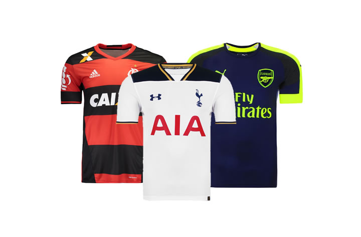 Lançamentos em camisas de futebol