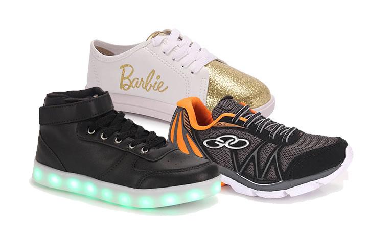 Ofertas de calçados infantis na Passarela