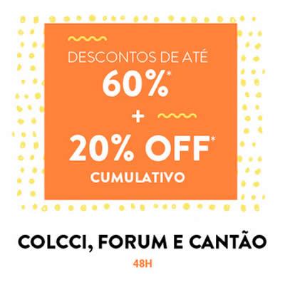 Ganhe 20% de desconto em peças Colcci, Fórum e Cantão na Dafiti
