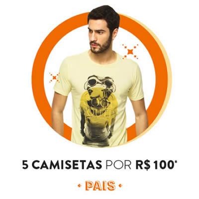 Dia dos Pais: 5 camisetas por R$ 100 na Dafiti